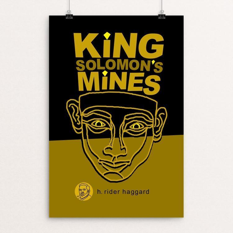 "King Solomon's Mines by Robert Wallman 12"" by 18"" Print / Unframed Print Recovering the Classics"