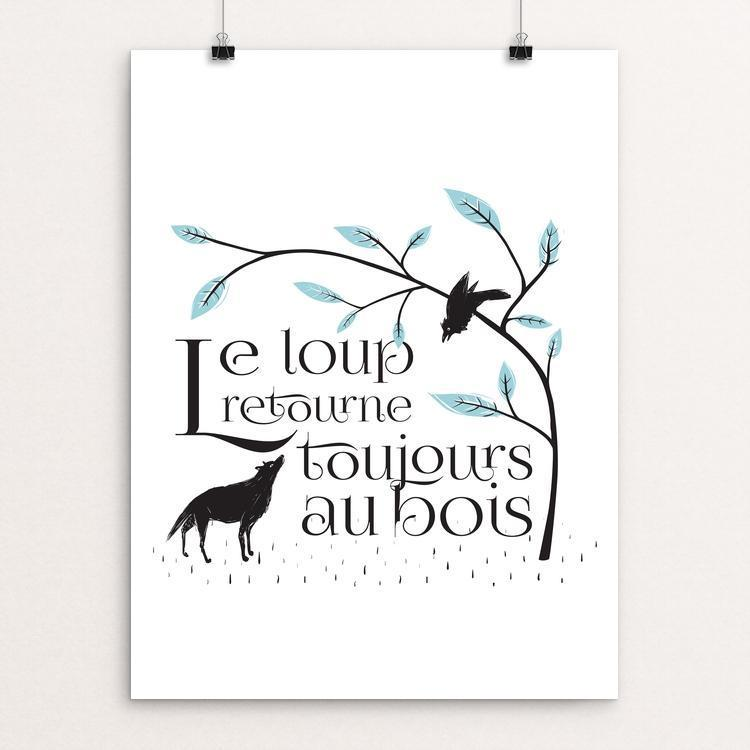 "Le Loup Retourne by Ray Wan 18"" by 24"" Print / Unframed Print Join the Pack"