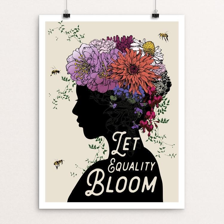 "Let Equality Bloom by Brooke Fischer 12"" by 16"" Print / Unframed Print Creative Action Network"