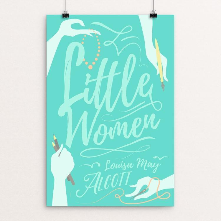 "Little Women by Janie Kliever 12"" by 18"" Print / Unframed Print Recovering the Classics"