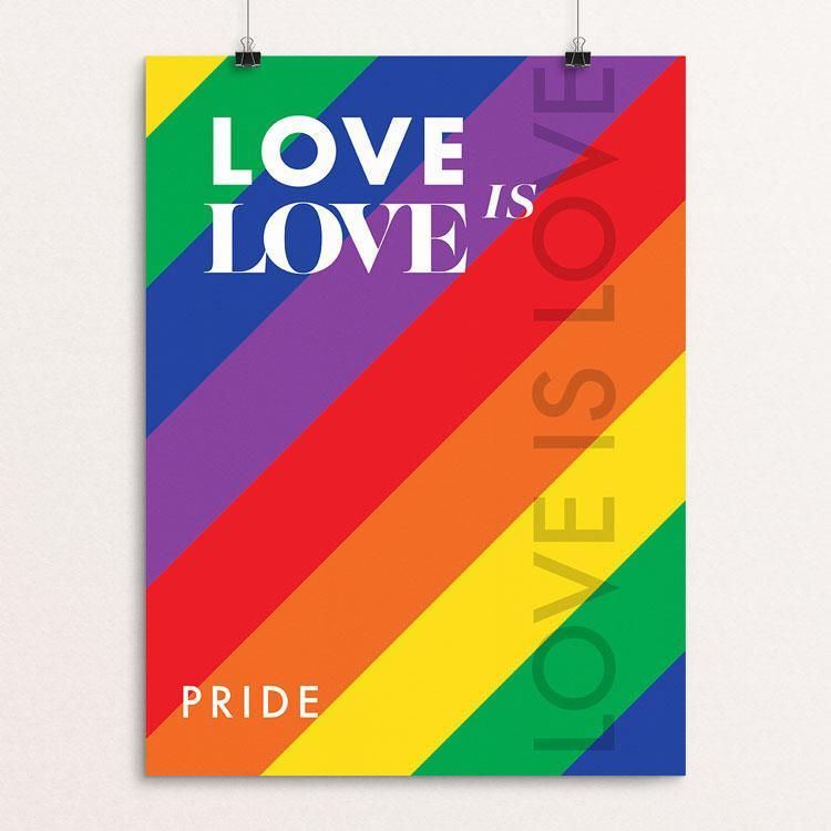"Love is Love by MarcAnthony Bermudez 12"" by 16"" Print / Unframed Print Creative Action Network"
