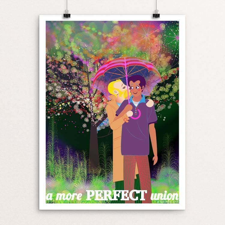 "Love is Love is Love by Aditi Raychoudhury 12"" by 16"" Print / Unframed Print A More Perfect Union"