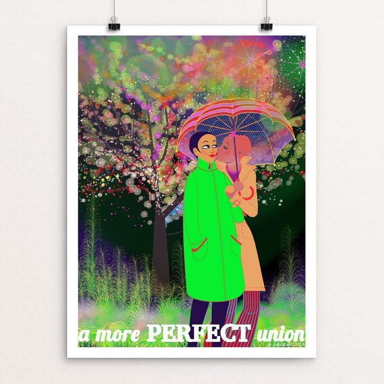 "Love is Love is Love [F] by Aditi Raychoudhury 12"" by 16"" Print / Unframed Print Creative Action Network"