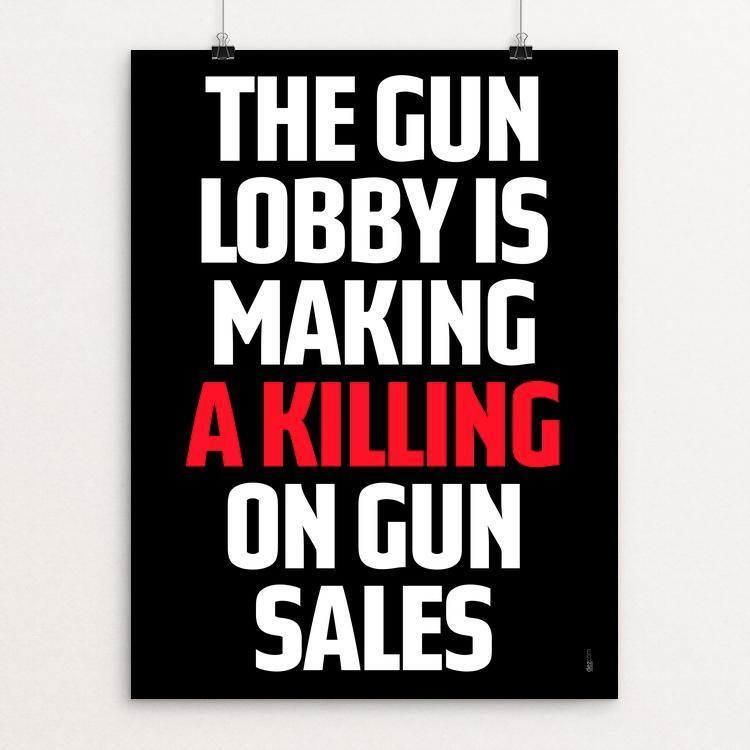 "Making a Killing on Sales by Chris Lozos 12"" by 16"" Print / Unframed Print Creative Action Network"