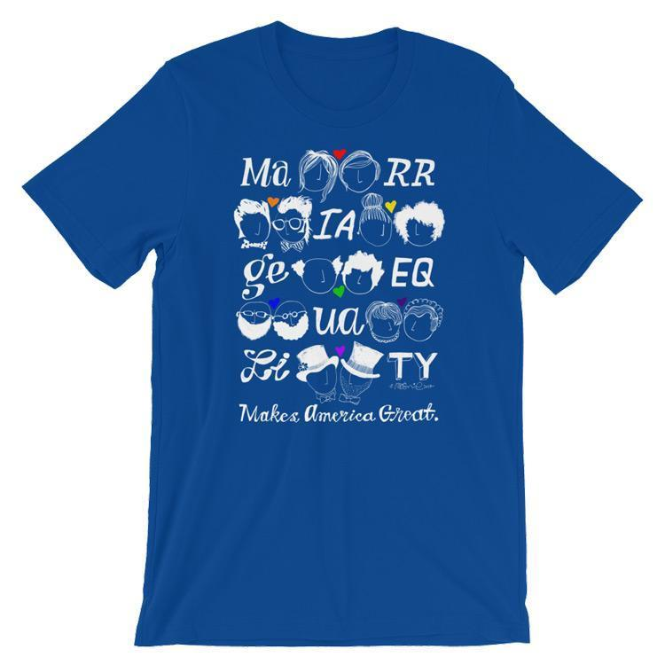 Marriage Equality Men's T-Shirt by Mark Addison Smith S / Blue T-Shirt What Makes America Great