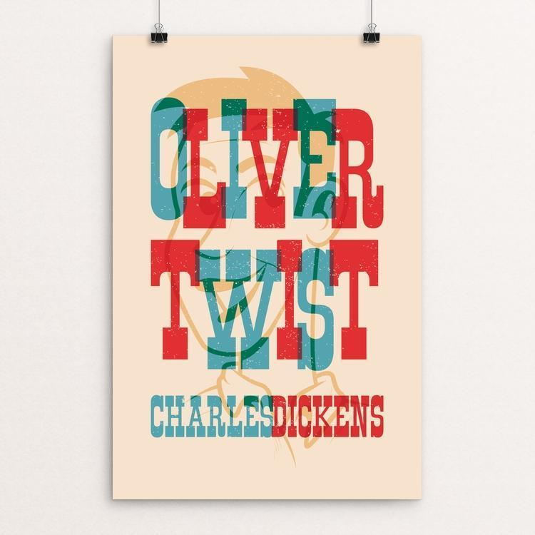 "Oliver Twist by Roberlan Borges Paresqui 12"" by 18"" Print / Unframed Print Recovering the Classics"