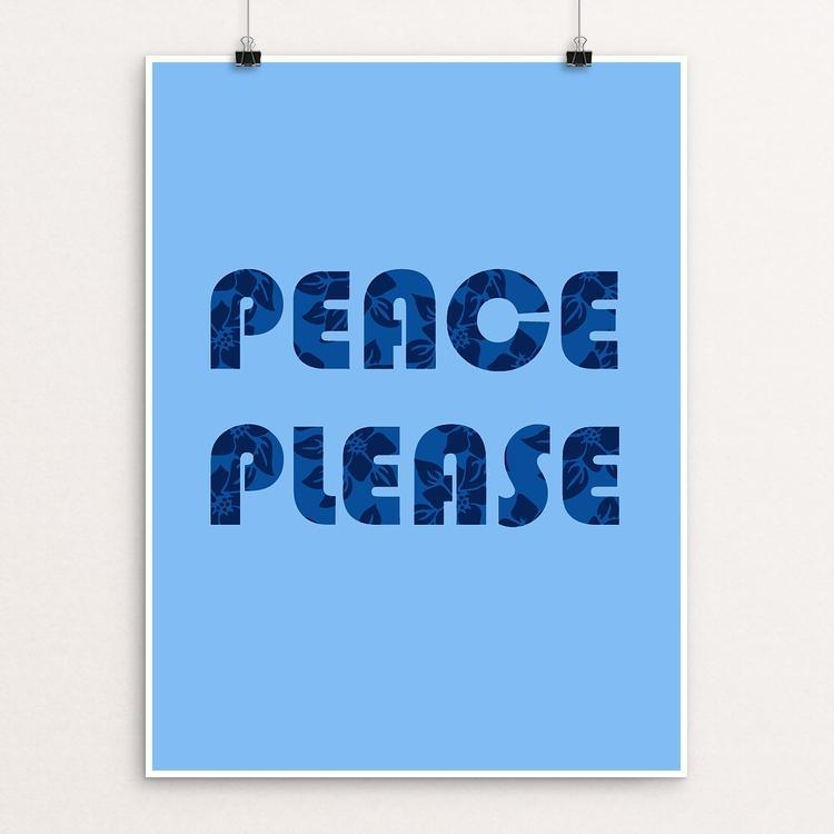 "Peace, Please by Holly Savas 12"" by 16"" Print / Unframed Print Creative Action Network"