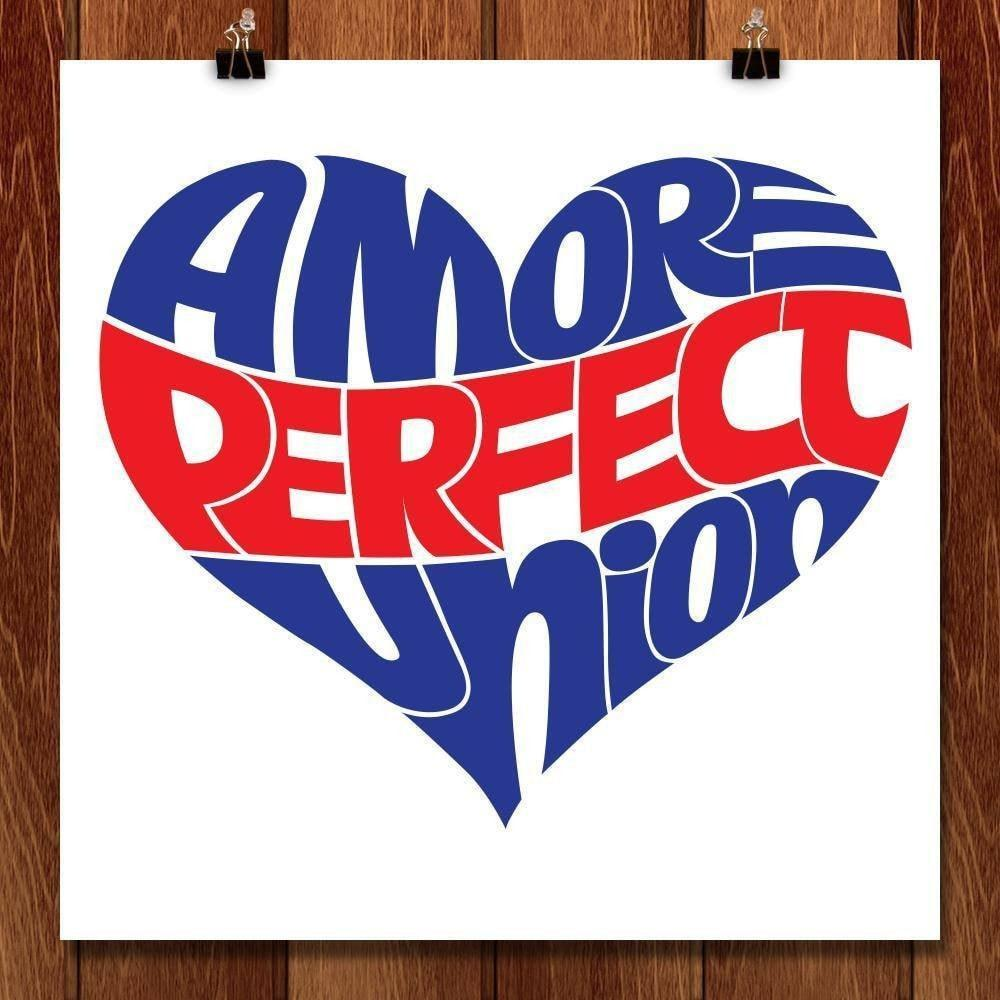 "Perfect Union Love by Karl Tani 12"" by 12"" Print / Unframed Print A More Perfect Union"