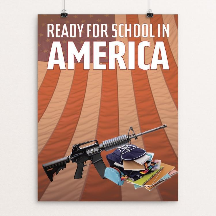 "Ready for School in America by Chris Lozos 12"" by 16"" Print / Unframed Print Creative Action Network"