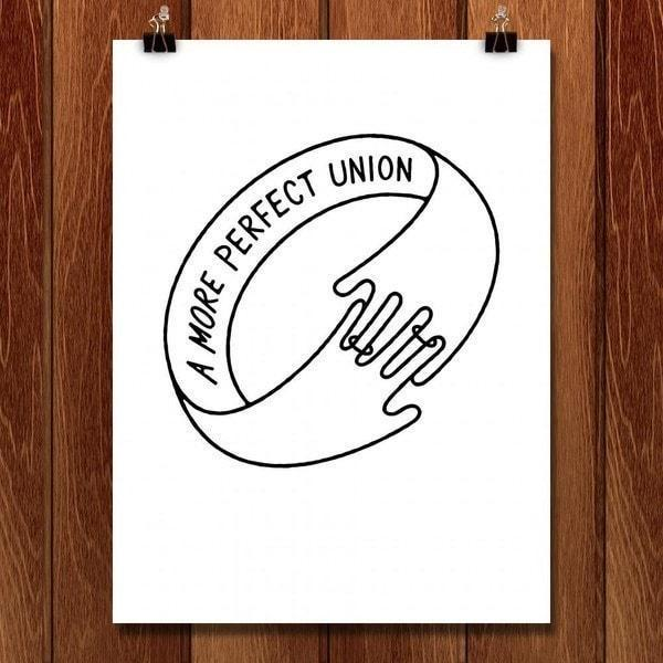 "Ring Around Love by Jeff Walters 18"" by 24"" Print / Unframed Print A More Perfect Union"