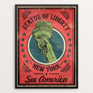"Statue of Liberty National Monument by David Garcia 12"" by 16"" Print / Framed Print See America"