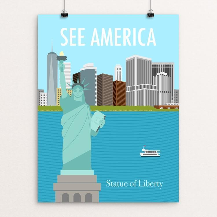 "Statue of Liberty National Monument by Mandy Sun 18"" by 24"" Print / Unframed Print See America"