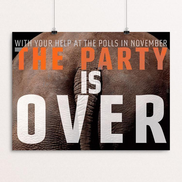 "The Party is Over by Chris Lozos 12"" by 16"" Print / Unframed Print Creative Action Network"
