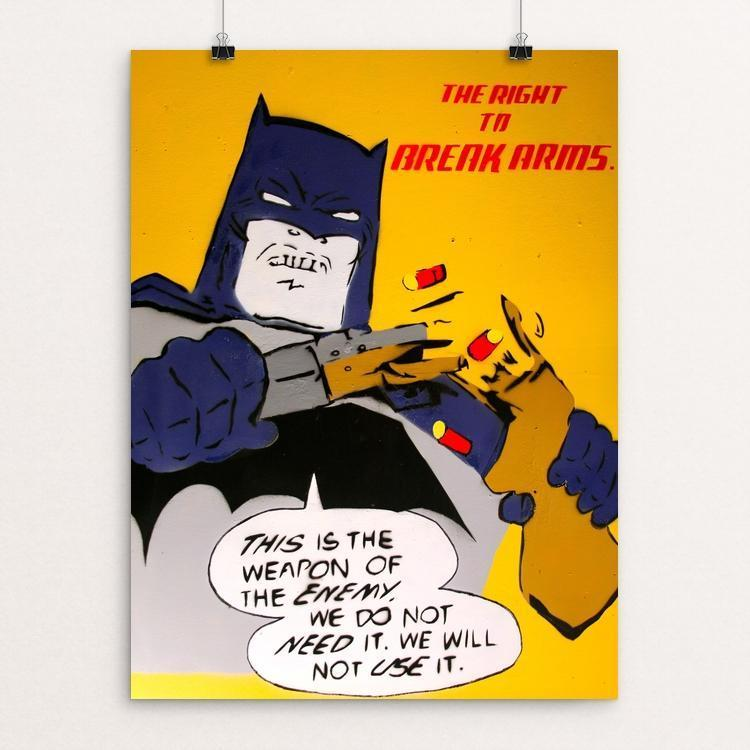 "The Right To Break Arms by Joshua Sierra 12"" by 16"" Print / Unframed Print The Gun Show"