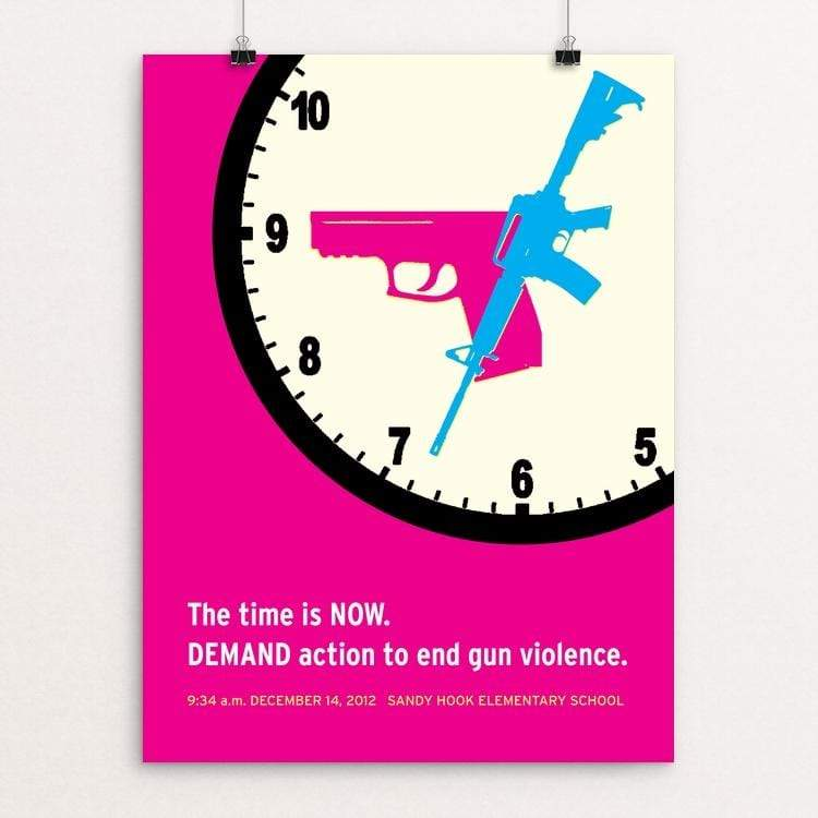 "The Time Is Now by Hillary Steinau 18"" by 24"" Print / Unframed Print Creative Action Network"