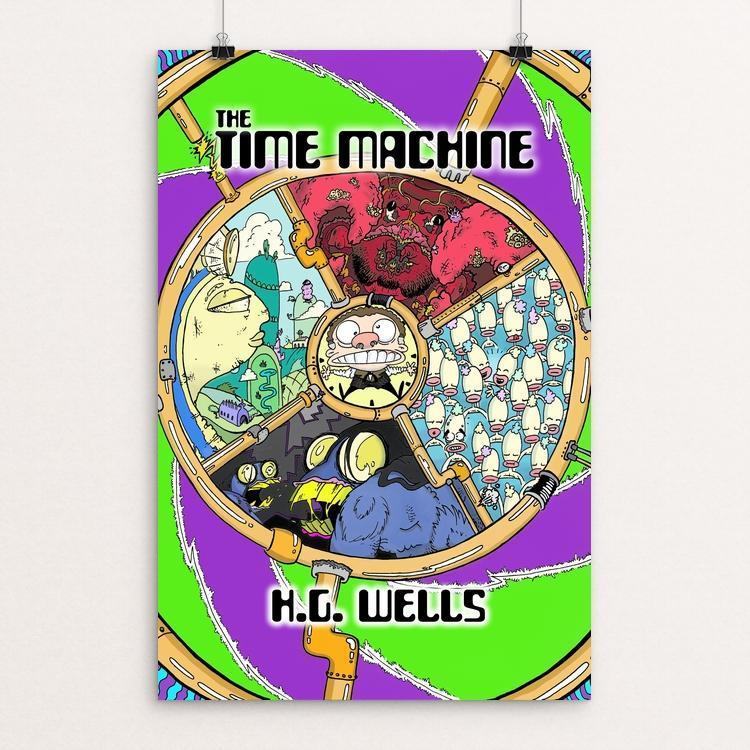 "The Time Machine by Gareth Bentall 12"" by 18"" Print / Unframed Print Recovering the Classics"