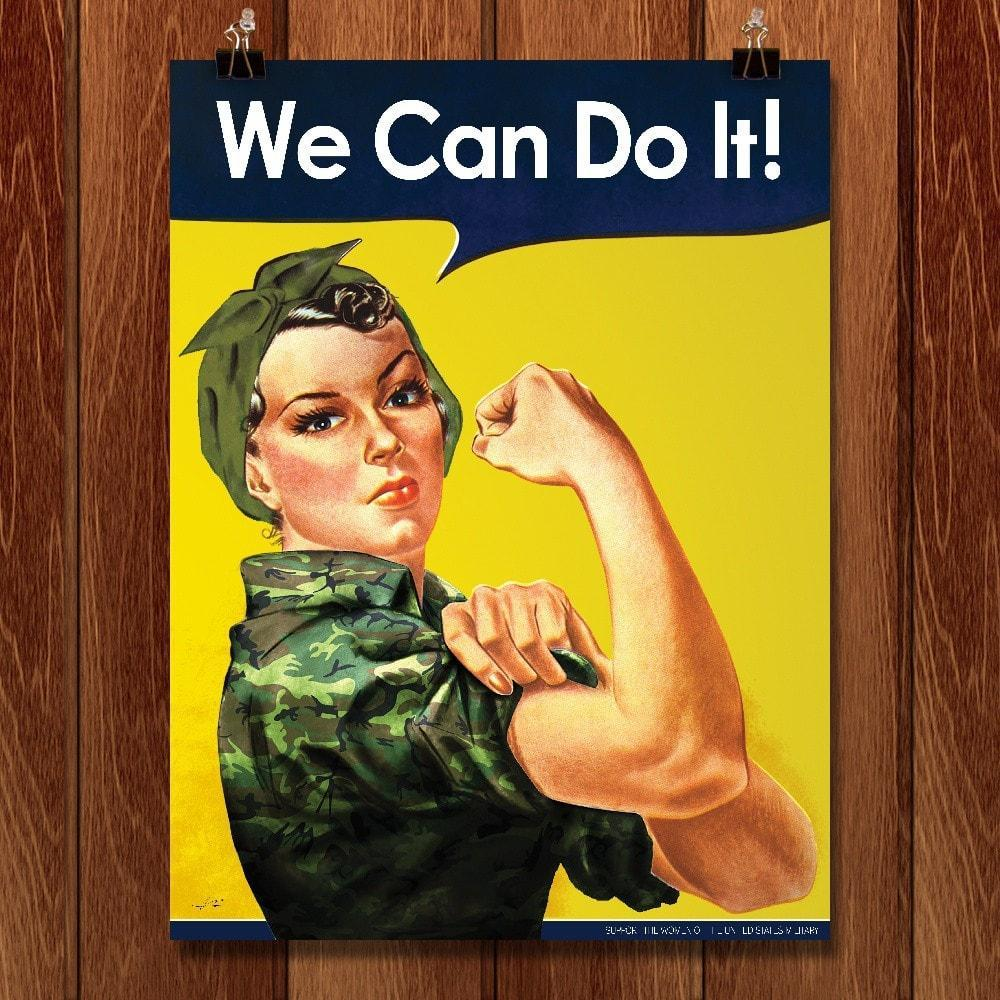 "U.S. Military Females by Kevin Bowen 12"" by 16"" Print / Unframed Print We Can Do It!"