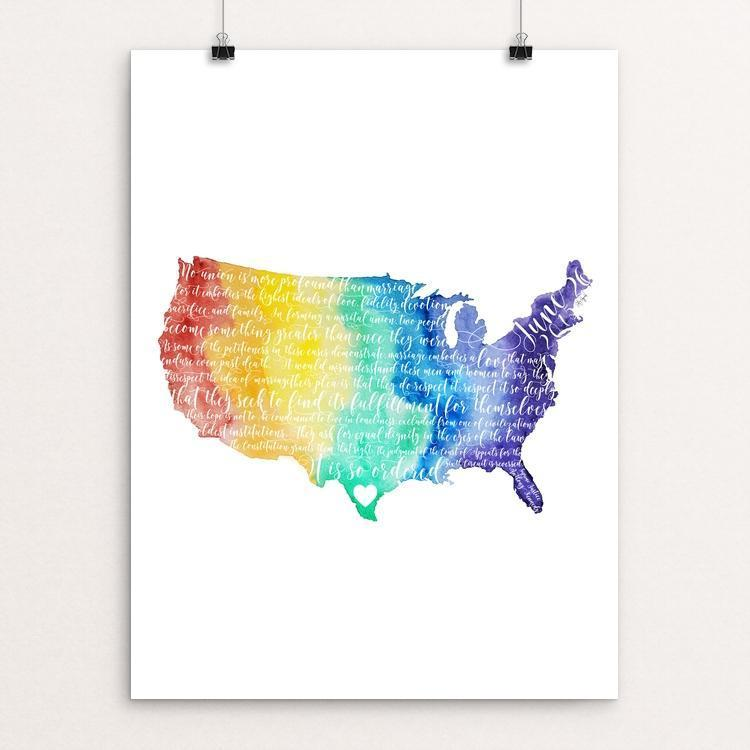"United in Love by Courtney Capparelle 12"" by 16"" Print / Unframed Print Creative Action Network"