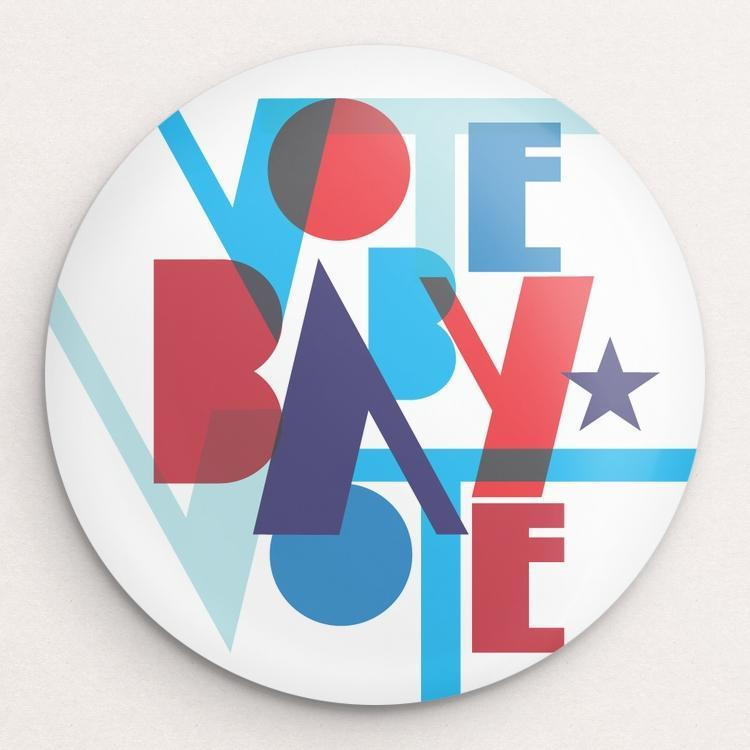 Vote Baby Vote Button by Trevor Messersmith Single Buttons Vote!