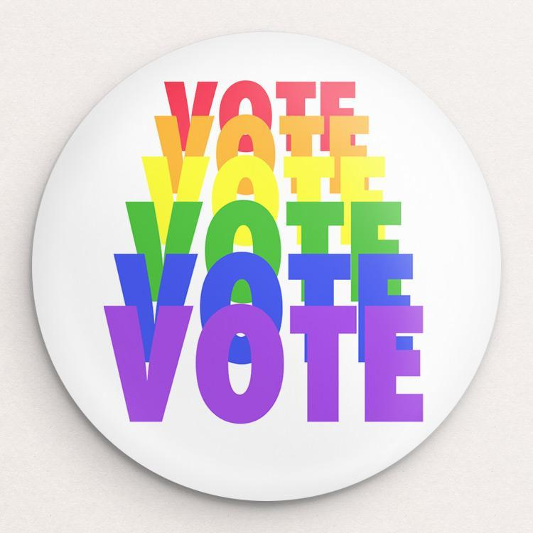 VOTE Button by Amy Smith Single Buttons Vote!