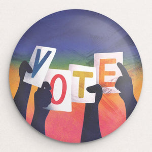 Vote Button by Kelly Rosen Single Buttons Vote!