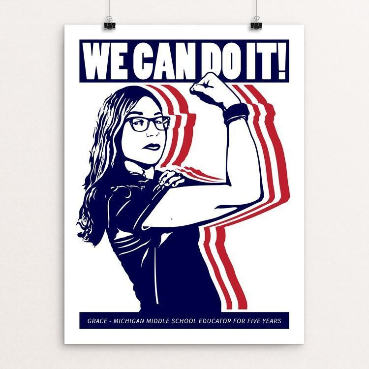 "We Can Do It! 1 by Mark Forton 12"" by 16"" Print / Unframed Print We Can Do It!"