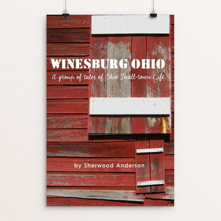 "Winesburg Ohio 3 by Bob Rubin 12"" by 18"" Print / Unframed Print Recovering the Classics"