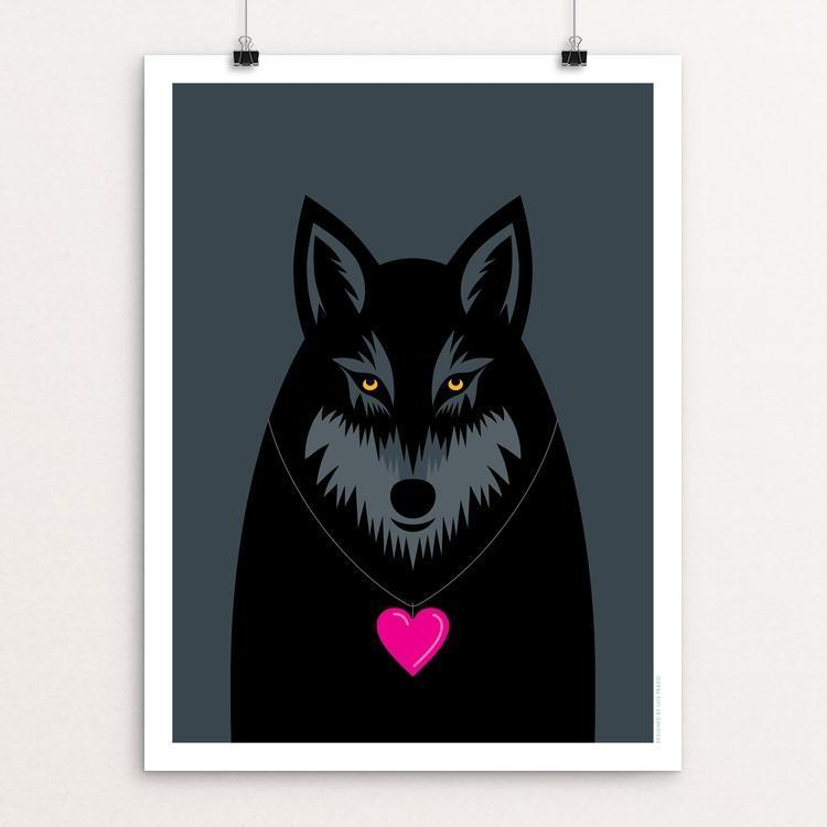 "Wolf Love by Luis Prado 18"" by 24"" Print / Unframed Print Join the Pack"