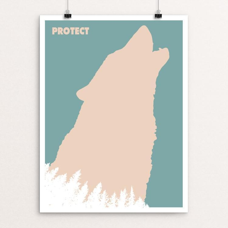 "Wolf Poster by Mark Forton 18"" by 24"" Print / Unframed Print Join the Pack"