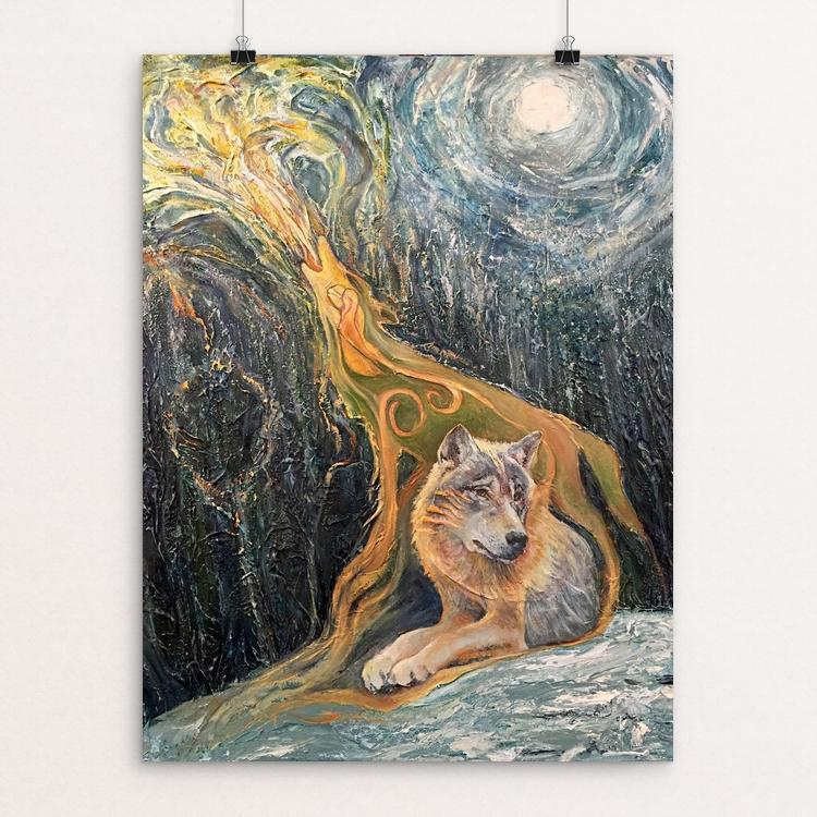 "WolfSong by John Parson 12"" by 16"" Print / Unframed Print Join the Pack"