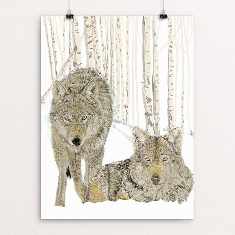 "Wolves by Lyla Paakkanen 18"" by 24"" Print / Unframed Print Join the Pack"