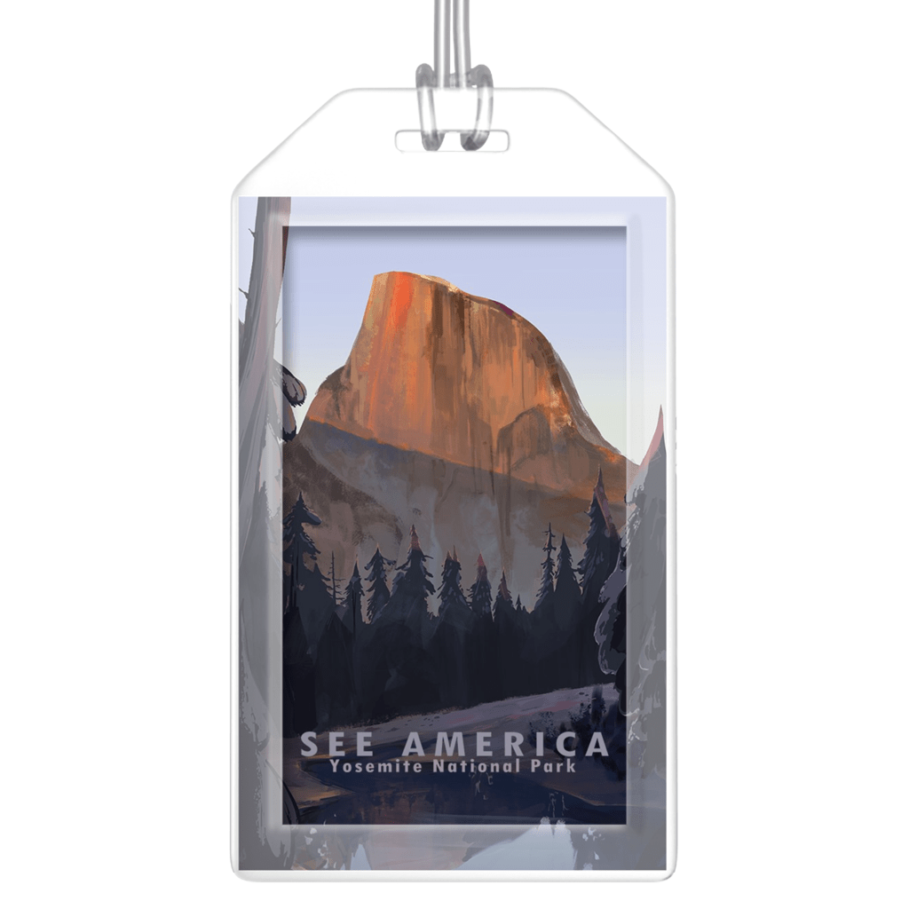 Yosemite National Park Luggage Tags by Alyssa Winans Lustre Paper Luggage Tag See America