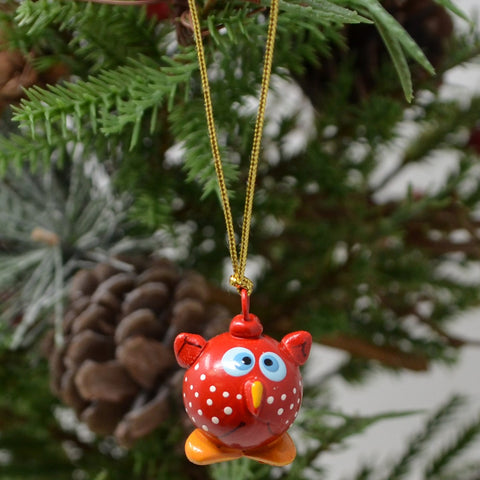 Baby Owl Marble Ornament