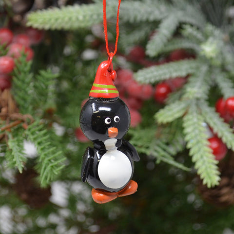 Penguin Marble Ornament