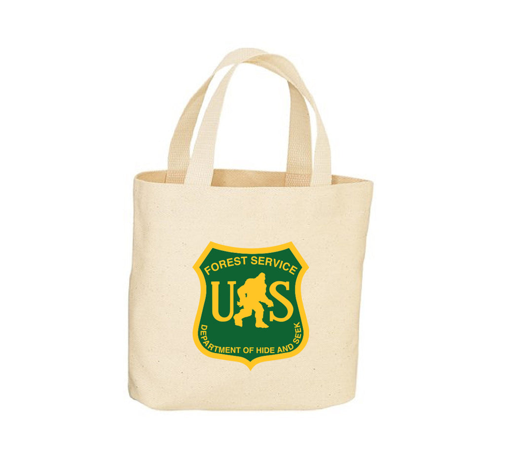 Bigfoot Forest Service Canvas Tote Bag