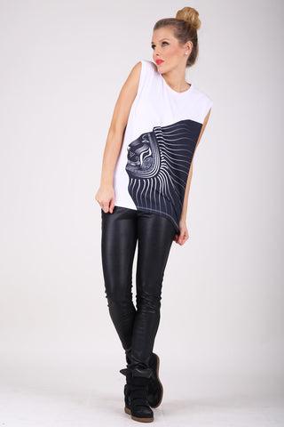 Tribal Lion sleeveless shirt