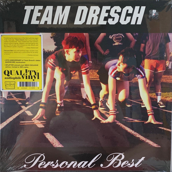 Team Dresch ‎– Personal Best : Jealous Butcher Records ‎– JB175-LP, Chainsaw ‎– CHSW 11, Candy-Ass Records ‎– CAR011 : Vinyl, LP, Album, Limited Edition, Clear w/ Yellow and Black Splatter cords ‎– STH2373 : Vinyl, LP, Album, Stereo
