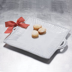 Incanto Stripe Square Handled Platter , tableware - Vietri, Pezzo Bello  - 2