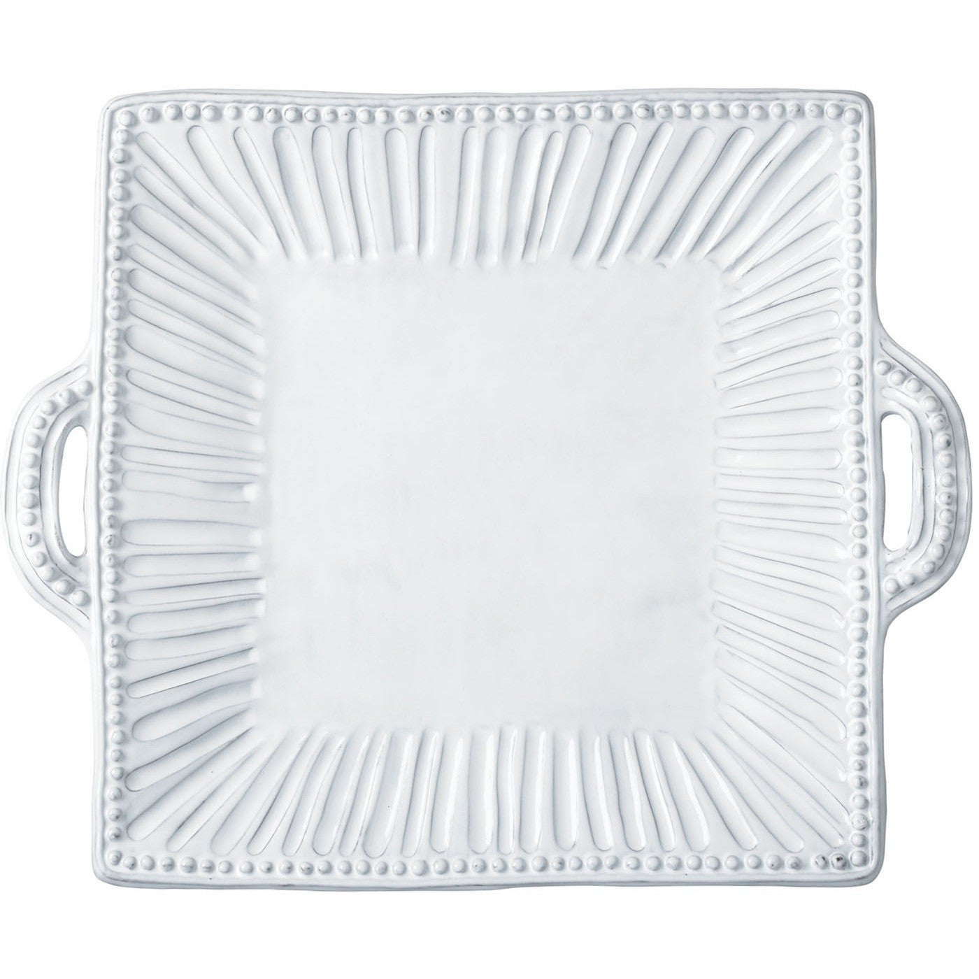 Incanto Stripe Square Handled Platter , tableware - Vietri, Pezzo Bello  - 1
