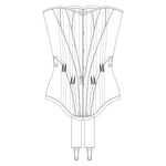 The Underpinnings Museum - c. 1900s Padded Midbust Corset Pattern