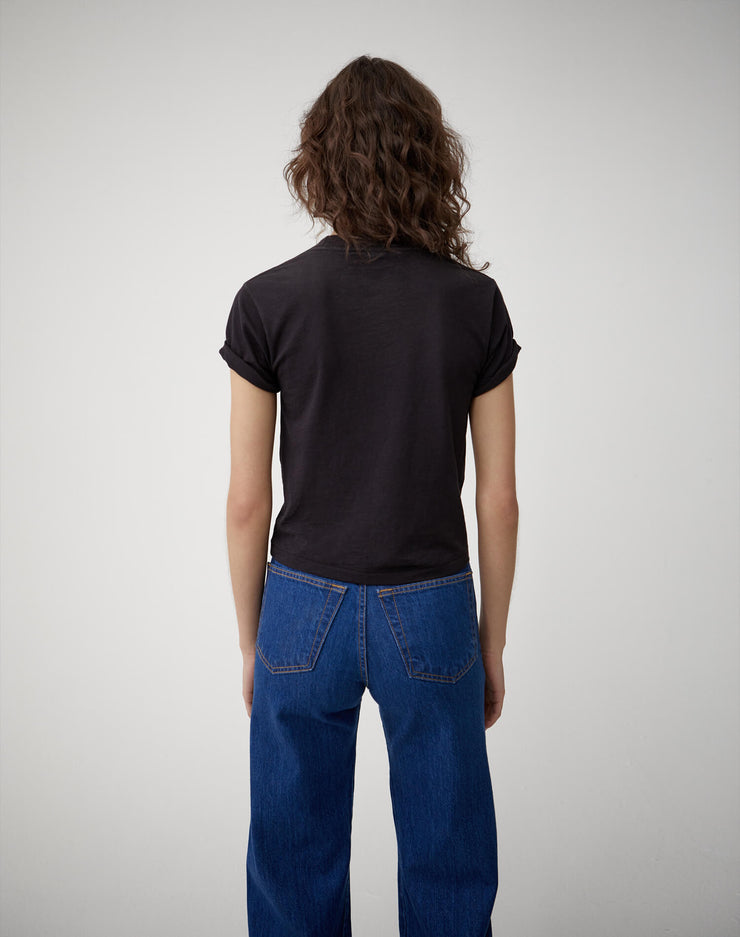 The 70s Rolled Sleeve Tee - Black