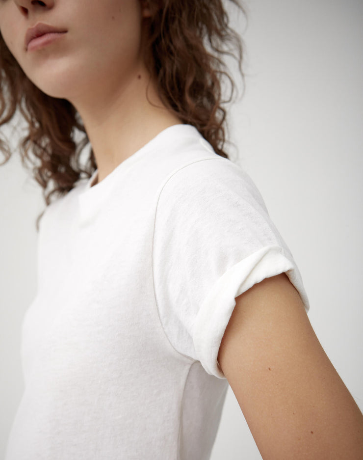 The 70s Rolled Sleeve Tee - Vintage White