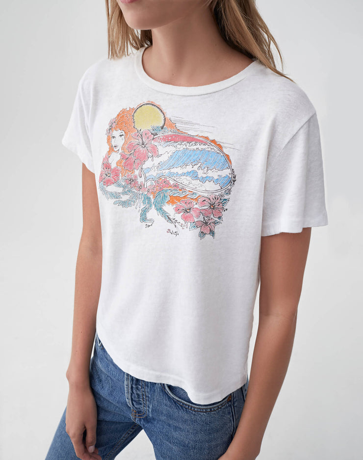 "The Slim ""Psychedelic Surf"" Tee - Vintage White"