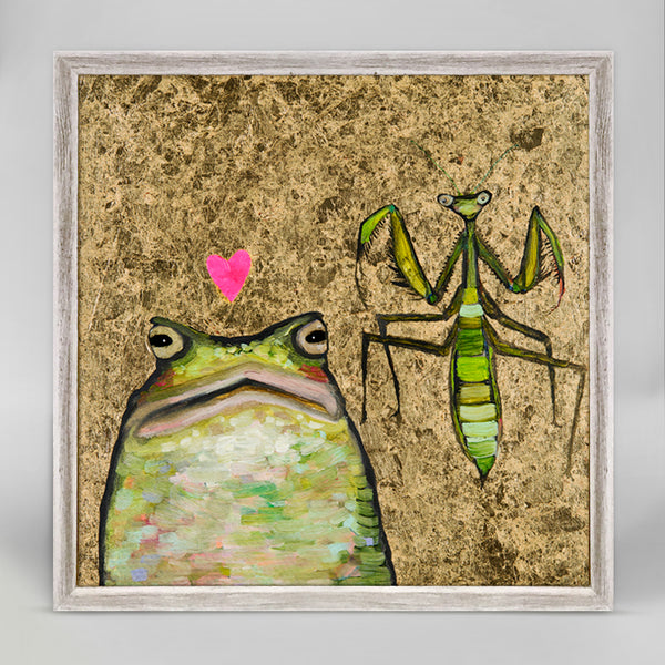 "Toad Loves Mantis Mini Print 6"" x 6"""