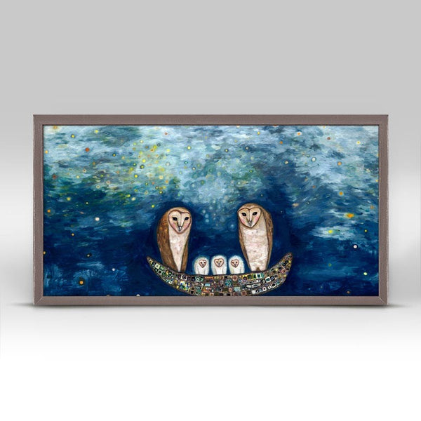 "Barn Owl Treasure Nest Print 10"" x 5"""