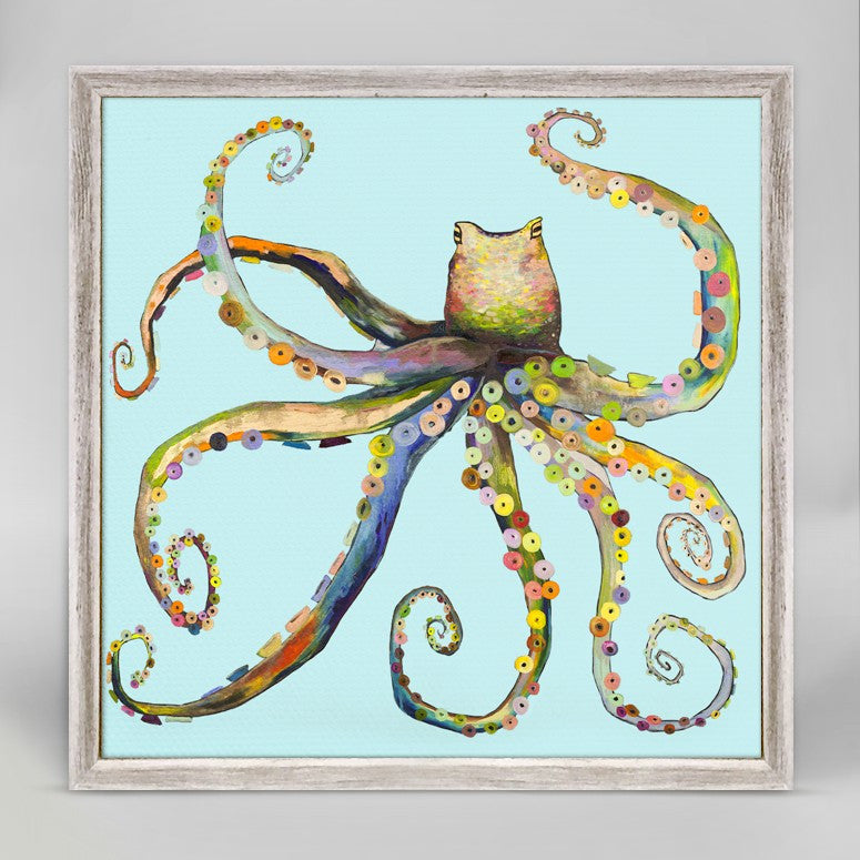 "Bright Octopus Mini Print 6"" x 6"""