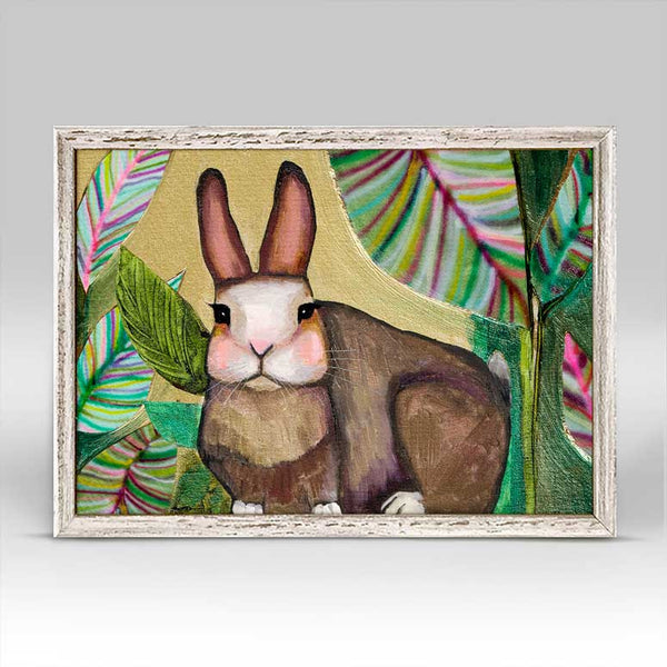"Carrot Cake Bunny in Leaves Mini Print 7"" x 5"""