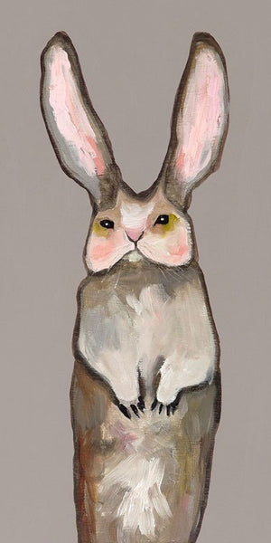 Forest Bunny in Taupe - Giclée Print