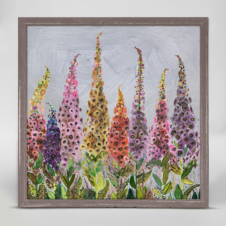 "Foxgloves Mini Print 6"" x 6"""