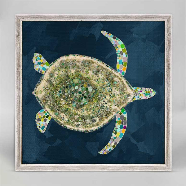 "Jeweled Sea Turtle Mini Print 6"" x 6"""